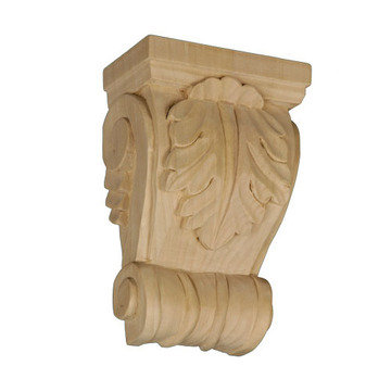 Legacy Artisan 6 5/8 Inch Leaf Corbel With Shell