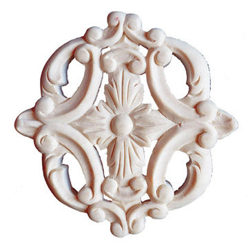 Legacy Artisan 4 Inch Floral Cross Applique