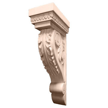 Legacy Artisan 16 3/8 Inch Leaf Corbel With Egg  And Dart