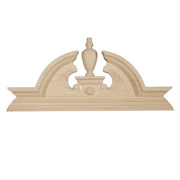 Legacy Artisan Arched Furniture Crest With Finial