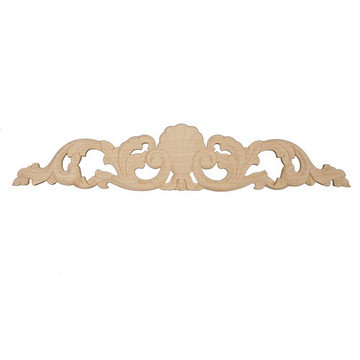 Hand Carved 24 Inch Shell & Leaf Applique