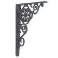 Restorers Black Iron Shelf Bracket - Pair