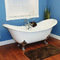 Restorers 71 Inch Double Slipper Clawfoot Cast Iron Bath Tub