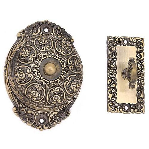 VICTORIAN TWIST DOORBELL WITH ORNATE DOME