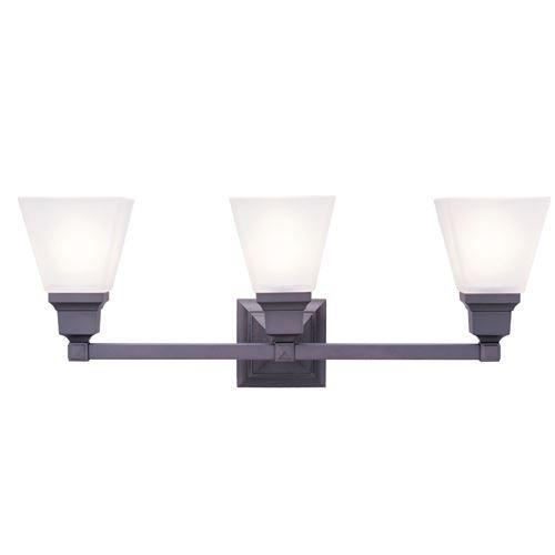 Shop Livex Lighting 2 Light Mission Chrome Bathroom Vanity Light At Lowes Com: Livex Lighting Mission 3 Light Vanity Light