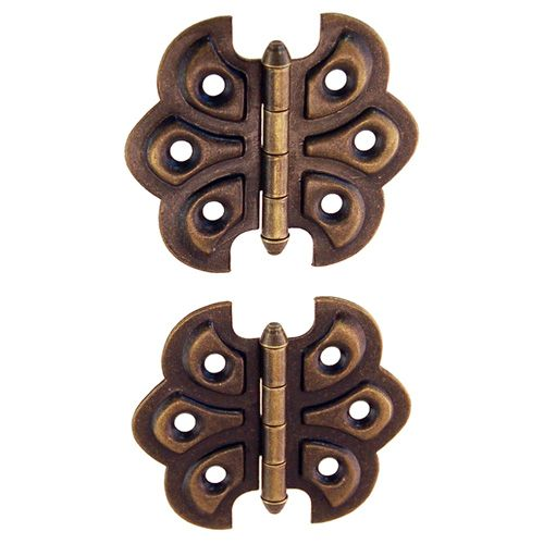 Surface Mount Steel Ornamental Butterfly Hinge Van Dyke