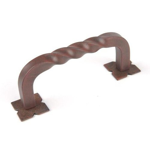Top Knobs Twist D Pull With Backplate 3 Inch