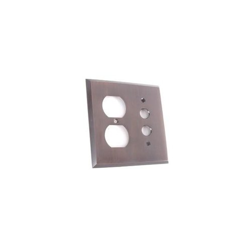 SINGLE PUSHBUTTON WITH DUPLEX SWITCHPLATE
