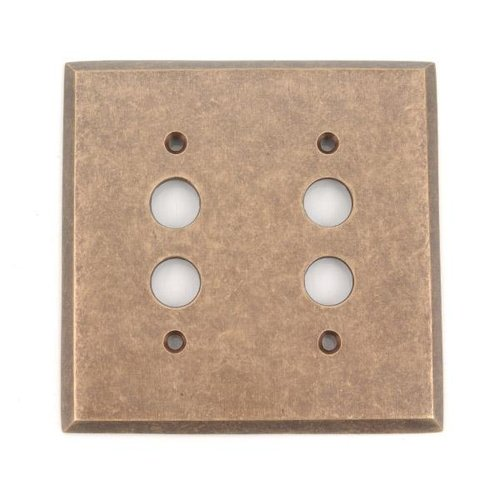 DOUBLE PUSHBUTTON SWITCHPLATE
