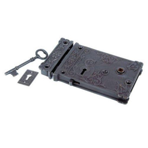 4 1/2 BACKSET ORNATE RIM LOCK