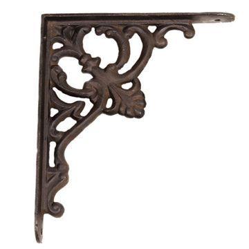 Restorers Decorative Iron Shelf Bracket