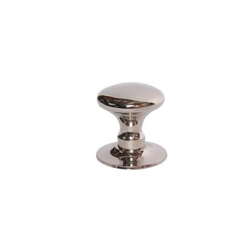 Restorers 1  Mushroom Brass Knob with Backplate