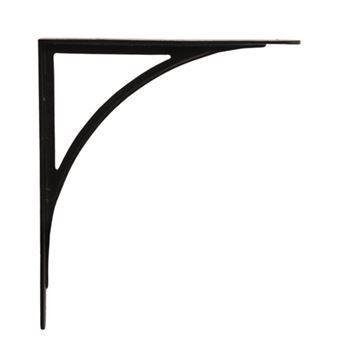 "Restorers 11"" x 8 3/4"" Arched Iron Shelf Bracket"