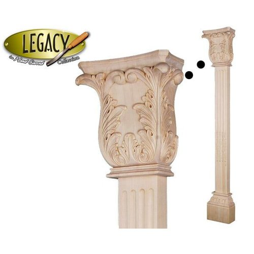 Legacy Signature 54 1 4 Inch Pilaster With Acanthus