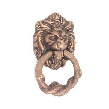 Rers Iron Lion Head Door Knocker