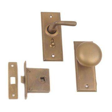 Restorers Knob To Lever Screen Door Lock Set