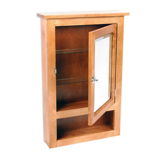 Unfinished solid wood bookcases maple primitive surface for Stand alone medicine cabinet