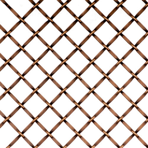 Kent Design 1214F 1/2 Round Flat Crimp Wire Grille   36 X 48