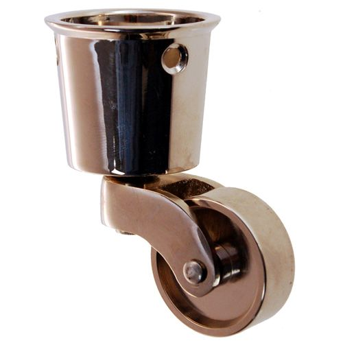 SOLID BRASS ROUND CUP CASTER