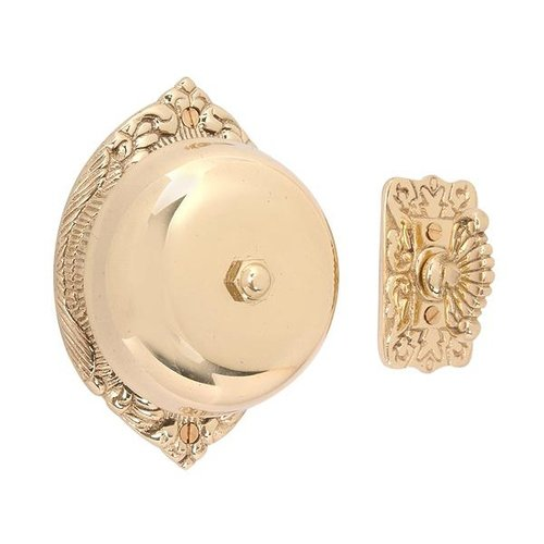 SOL BRASS DOORBELL 3 3/4DIA (POLISHED&LACQ)