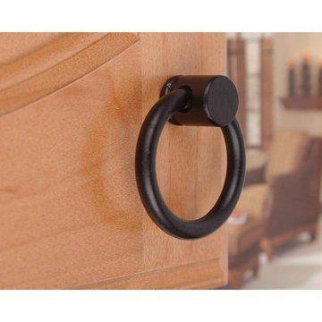 Restorers Black Wrought Iron Ring Pull Van Dyke S Restorers