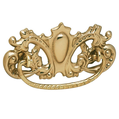 Restorers Classic Victorian Pull with Crown Backplate