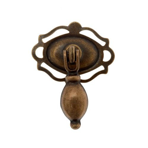 Classic Drop Pull with Decorative Oval Backplate