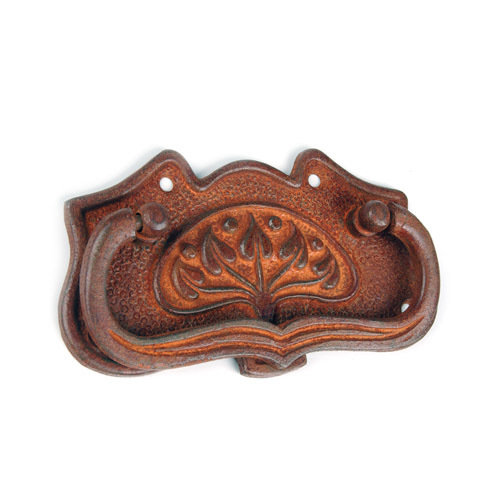 RUSTY IRON FLORAL BACKPLATE/BAIL PULL