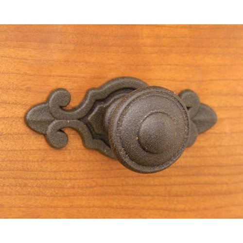 Top Knobs Rustic Iron Knob With Backplate Van Dyke S