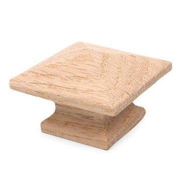 Restorers Classic Pyramid Solid Oak Wood Knob