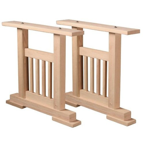 wood info wooden dining legs pedestal bases unfinished table penguinsafari base