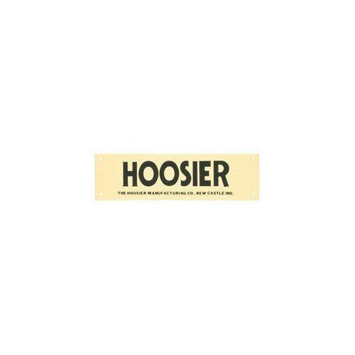 BRASS HOOSIER NAMEPLATE