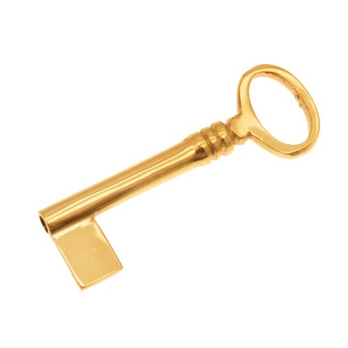 Restorers 1/4 Inch - 7/16 Inch Bit Brass Skeleton Key - Cabinet Locks & Latches Drawer Locks, Escutcheons, And Keys For Sale