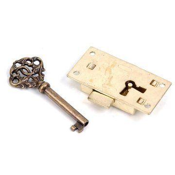 SMALL LOCK W/KEY 1 1/4X2 7/16