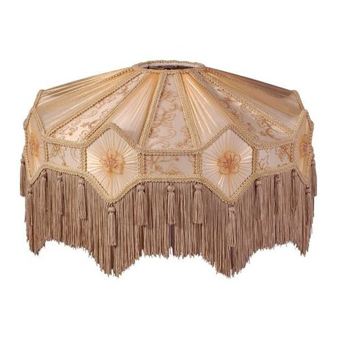 Beige And Champagne Victorian Floor Lamp Shade
