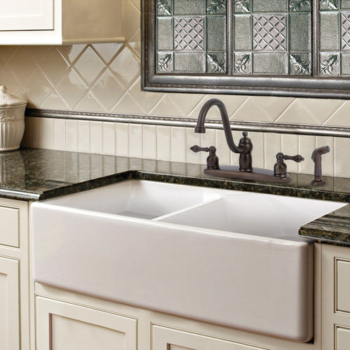 Beau Double Farmhouse Fireclay Sink
