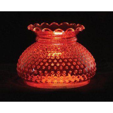CRANBERRY HOBNAIL LAMP SHADE