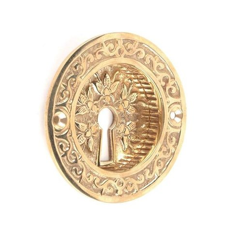 POL BRASS BEE POCKET DOOR PULL WITH/HOLE