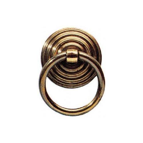 RING PULL W/BULLSEYE BACKPLATE/ANT FINISH