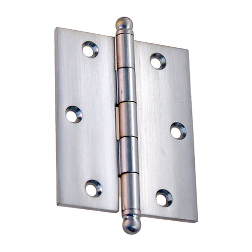 """Steel Mortise Hinge with Ball Tips – 2 1/2"""" x 3 1/8"""""""