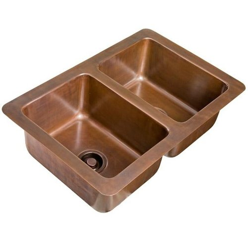 Drop in copper kitchen sinks premier copper products - Copper drop in kitchen sink ...