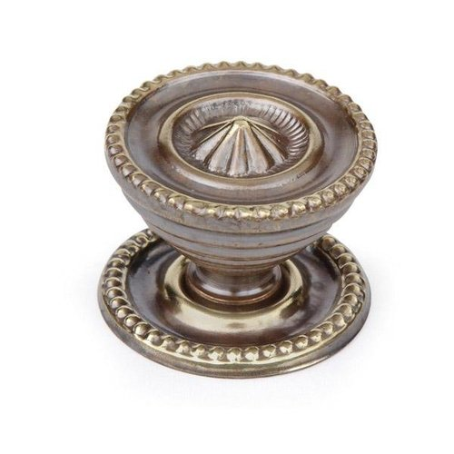 - Armac Antique Brass Cabinet Knob With Backplate