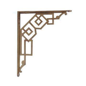 strap large shelf brackets aged brass decorist bracket finds