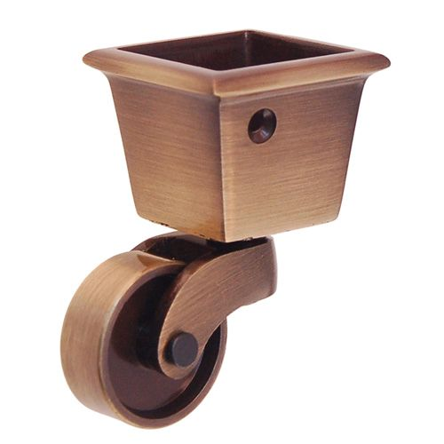 SOLID BRASS SQUARE CUP CASTER