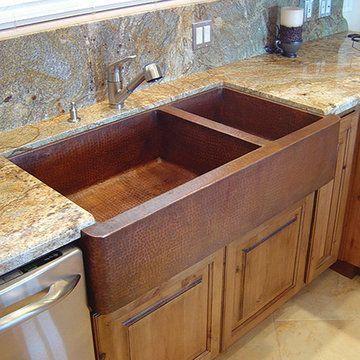 Copper Apron Sink : Premier Copper 75/25 Double Bowl Apron Copper Sink Van Dyke?s ...