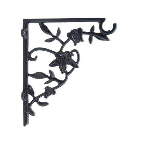 Restorers Flower and Leaf Iron Shelf Bracket/Plant Hanger