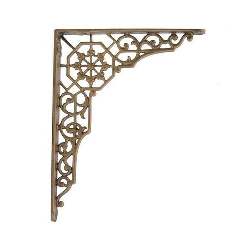 hardware shelf brass antique lis bracket side fleur de brackets