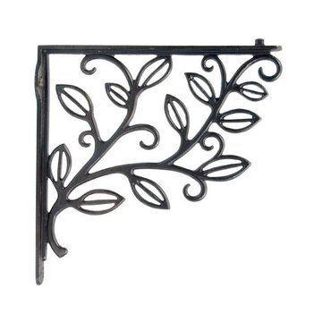 Restorers Vine & Leaf Cast Iron Shelf Bracket