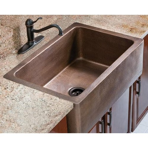 Sink With Apron : Legacy Signature Farmhouse Apron Single Bowl Copper Kitchen Sink Van ...