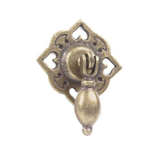 """Stamped Brass 2 7/8"""" Victorian Drop Pull"""